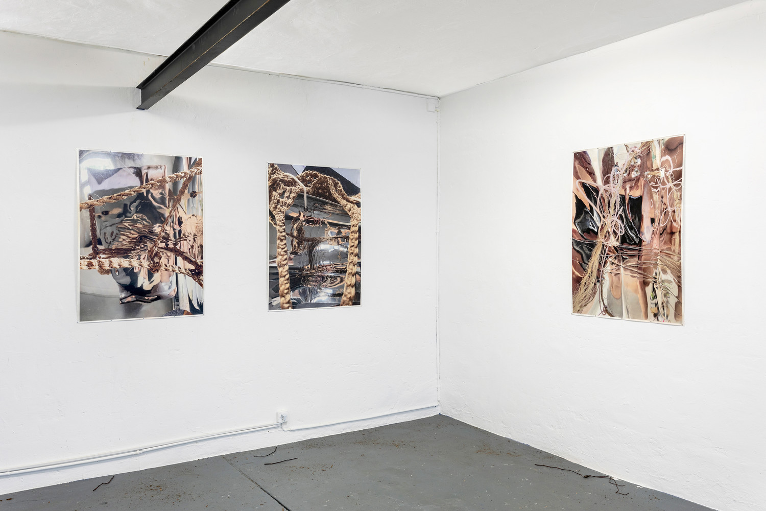 Self-portrait 3-4-5 [from left to right], 2020, acrylic and ink on paper, each 107x 78cm — © Manon Wertenbroek
