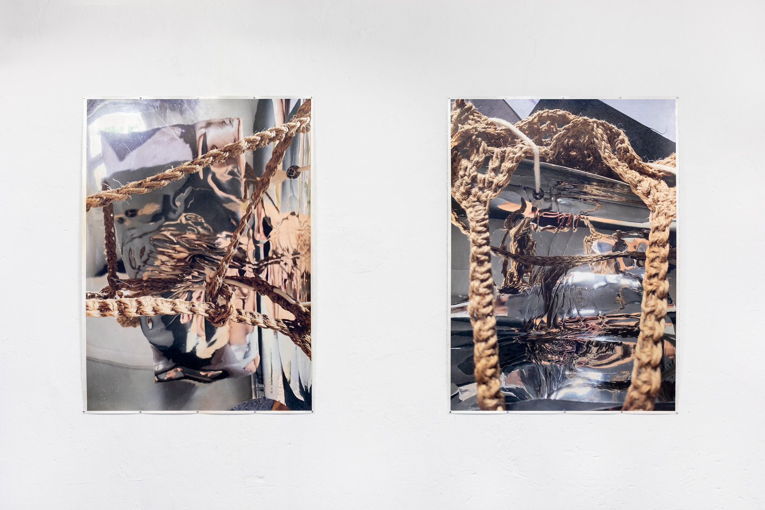 Self-portrait 3-4 [from left to right], 2020, acrylic and ink on paper, each 107 x 78 cm — © Manon Wertenbroek