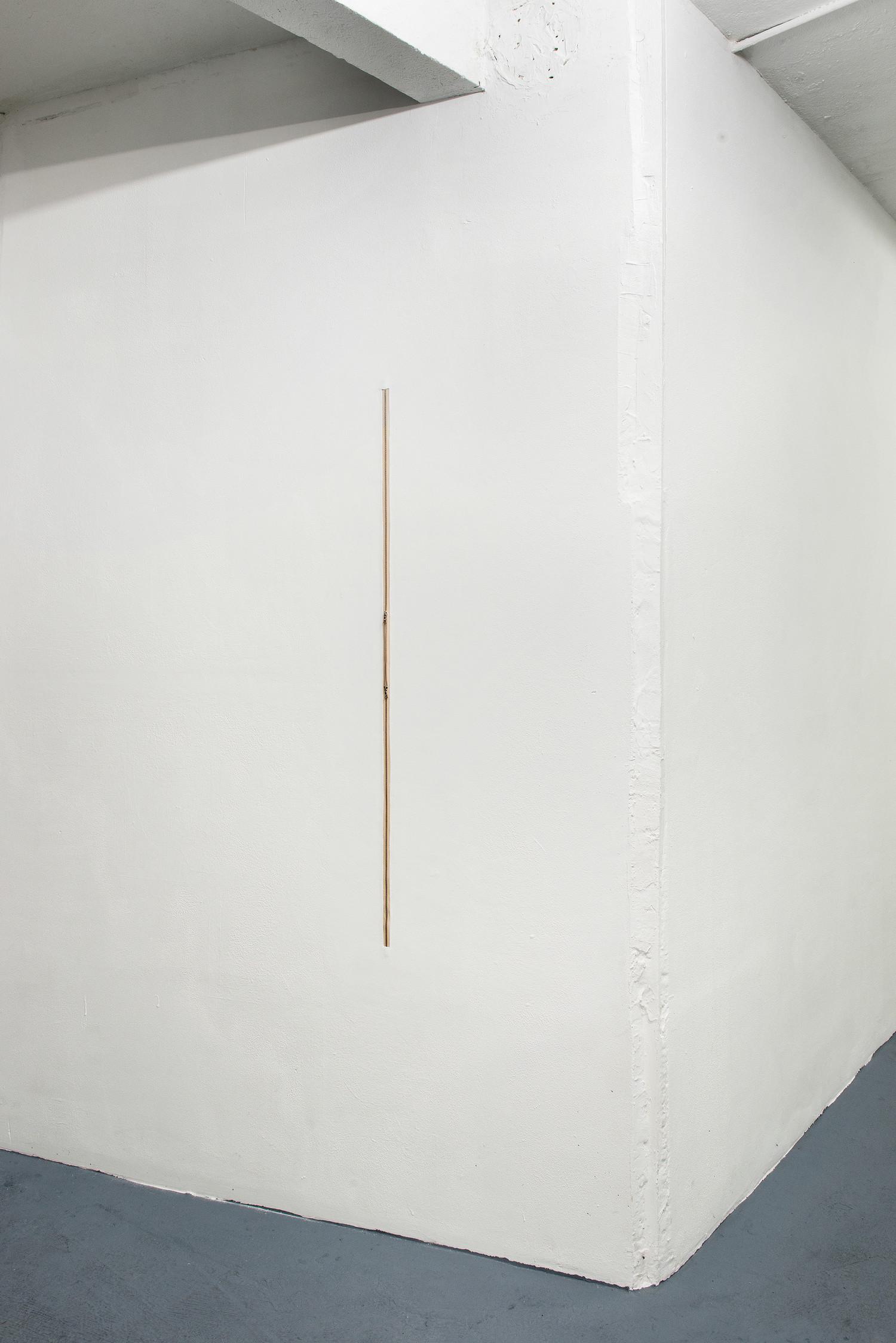 Zipper H116.5, 2020, zipper embedded into wall, 116,5 x 1,5 cm — © Manon Wertenbroek